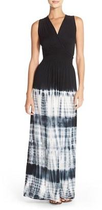 Women's Fraiche By J Tie Dye Ombre Jersey Maxi Dress $99 thestylecure.com