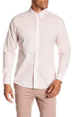 Slate & Stone Modern Fit Palm Tree Print Long Sleeve Button Shirt