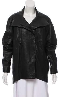 Zero Maria Cornejo Oversize Leather Jacket