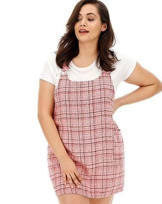 556003eceeb3 AX Paris Pink Tweed Pinafore Dress