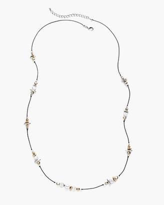 Long Mixed-Metal Single-Strand Necklace