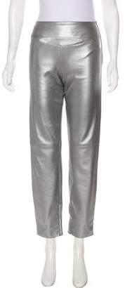 Chanel High-Rise Leather Pants