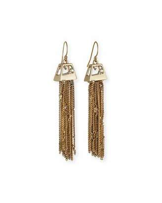 Alexis Bittar Chain Fringe Drop Earrings $195 thestylecure.com