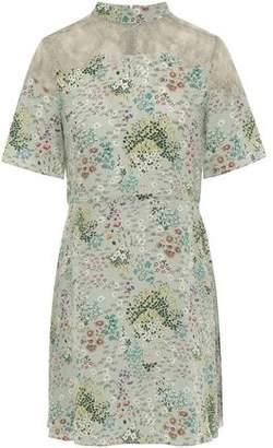Valentino Floral-print Silk Crepe De Chine Mini Dress