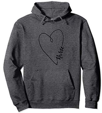 Nurses Week Nurse With Heart Hoodie Gift Dark