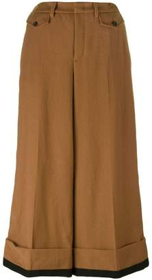 No.21 cropped wide leg trousers
