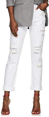 Couture FORTE Women's Vanessa Embellished Distressed Skinny Jeans
