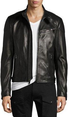 Ralph Lauren Randall Leather Café Racer Jacket, Black $3,495 thestylecure.com