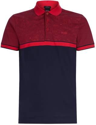 BOSS GREEN Paul Stripe Geometric Print Shirt
