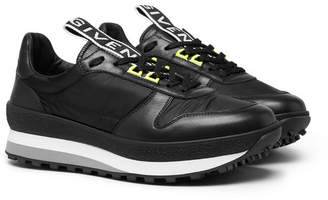 Givenchy Tr3 Leather And Shell Sneakers
