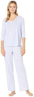 Carole Hochman Cotton Jersey Long Sleeve Long Pajama Set