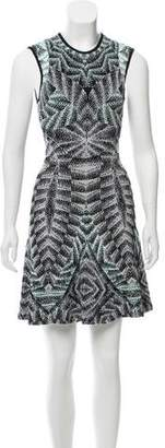 Ronny Kobo Jacquard A-Line Dress