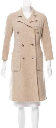 Calvin Klein Double-Breasted Mélange Coat