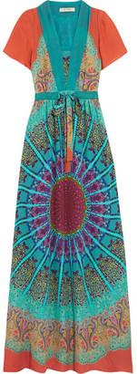 Etro - Printed Silk Crepe De Chine Maxi Dress - Blue $2,700 thestylecure.com