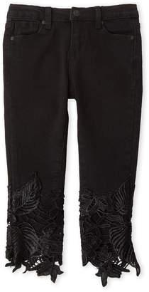 Jessica Simpson Girls 4-6x) Noir Lace Bottom Jeans
