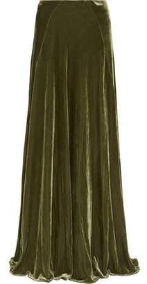 Etro Pleated Velvet Maxi Skirt