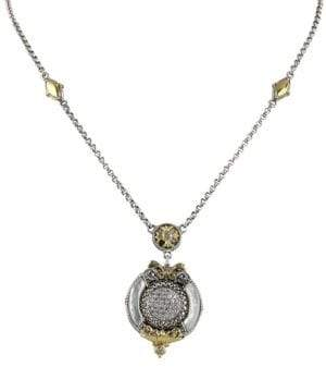 Konstantino Asteri White Diamond, Mother-of-Pearl and Sterling Silver Pendant Necklace