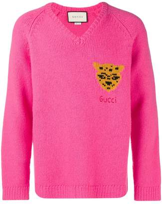 Gucci Leopard knit sweater
