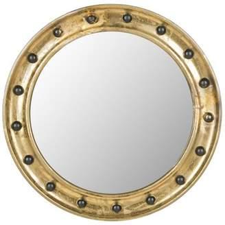 Beachcrest Home Milmont Round Antique Gold Mirror