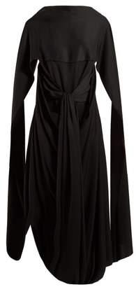 J.W.Anderson Draped Long Dress - Womens - Black