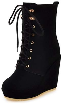 8df2817f1110 at Amazon Canada · RizaBina Women Sweet Wedge Heel Ankle High Boots Lace up  Shoes (41 AS