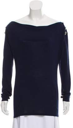 Pierre Balmain Cowl Neck Long Sleeve Top