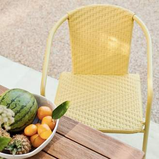 west elm Woven Outdoor Stacking Chairs (Set of 2)