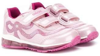 Geox Kids glitter velcro sneakers