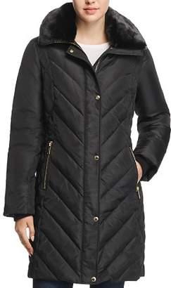 MICHAEL Michael Kors MICHAEL Faux Fur Collar Puffer Coat