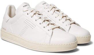 Tom Ford Warwick Perforated Full-grain Leather Sneakers - White