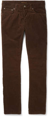Nudie Jeans Grim Tim Sim-Fit Organic Stretch-Cotton Velvet Jeans - Brown