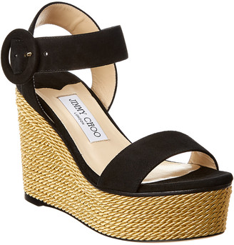 Jimmy Choo Abigail 100 Leather Wedge Sandal