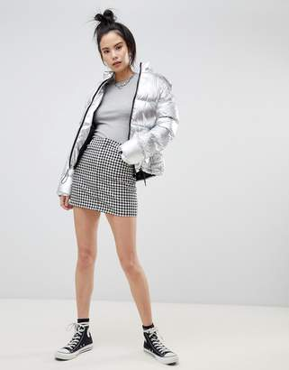 Pull&Bear zip front mini skirt