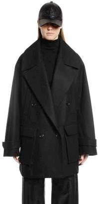 Juun.J Oversized Wool & Cashmere Peacoat