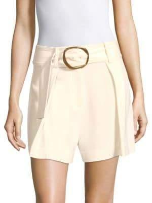 Derek Lam 10 Crosby Belted Crepe Shorts