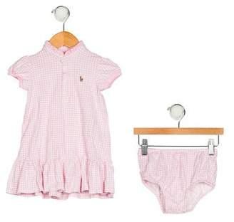 Ralph Lauren Girls' Gingham Dress Set