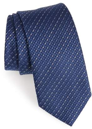 Salvatore Ferragamo Este Solid Silk & Cotton Tie
