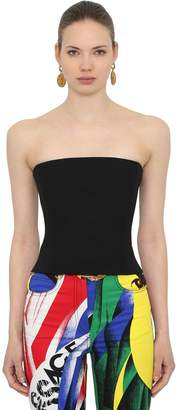 Versace Stretch Wool Bustier Top