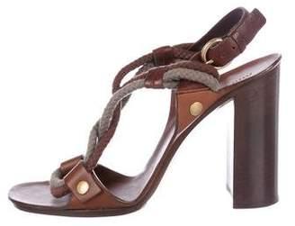 Miu Miu Leather High-Heel Sandals