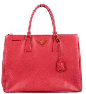 Pre-Owned at TheRealReal · Prada Large Saffiano Lux Galleria Double Zip Tote 60ccacf849