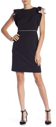 Taylor Ruffle Cap Sleeve Solid Dress