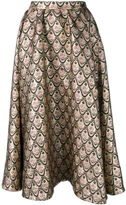 Rochas patterned loose skirt