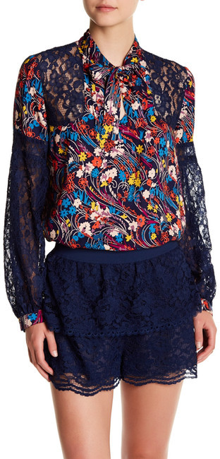 Anna Sui Anna Sui Swirling Flowers Print Tunic