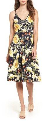 Women's Soprano Floral Print Cutout Midi Dress $49 thestylecure.com