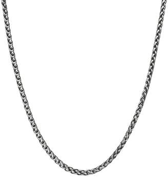 Lynx LYNXMen's Antiqued Stainless Steel Wheat Chain Necklace