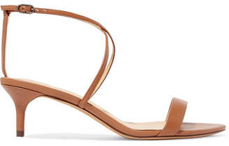 Alexandre Birman Smart Cocktail Leather Sandals - Brown