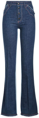 Sonia Rykiel Two-Tone Flared Jeans