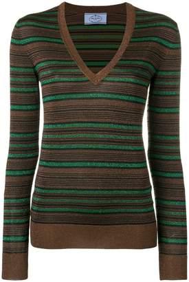 Prada striped pullover