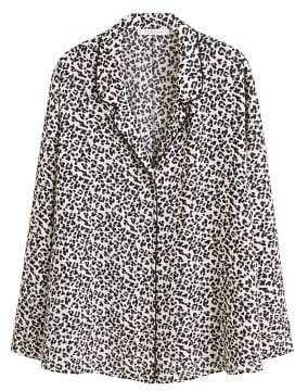 Violeta BY MANGO Animal print blouse