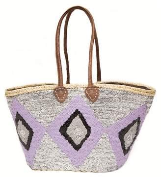 Asha By Ashley Mccormick Purple Sequin Ikat Basket